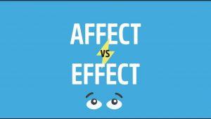 تفاوت effect و affect