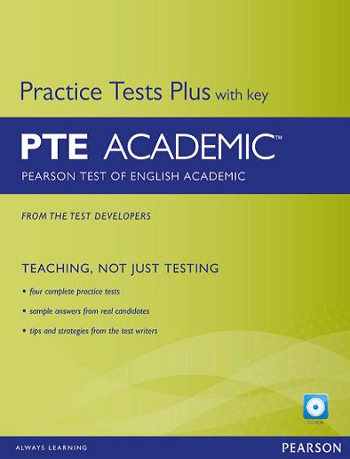 منابع آزمون pte کتاب های منابع آزمون pte PRACTICE TESTS PLUS