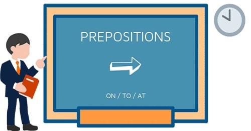 حروف اضافه (prepositions) در آموزش Part of speech