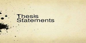 توضیح thesis statement