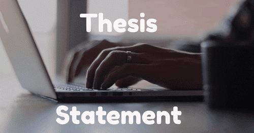 توضیحات  thesis statement