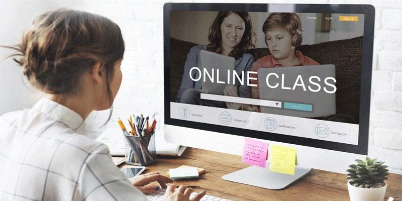 کلاس زبان آنلاین در منزل
