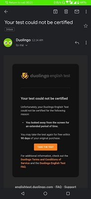 اخطار های آزمون دولینگو